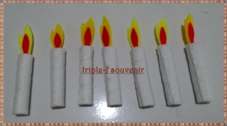 topping flanel lilin
